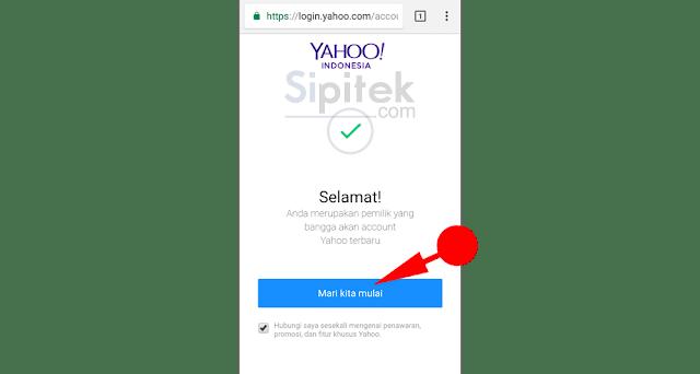 Cara Membuat Email Yahoo lewat HP Android