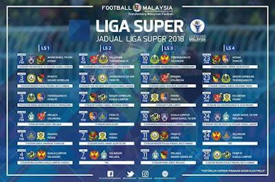 Jadual Perlawanan Kedah Liga Super 2018