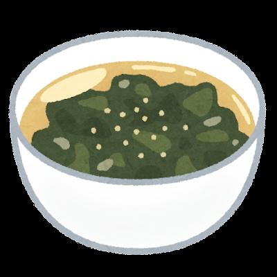 わかめスープのイラスト
