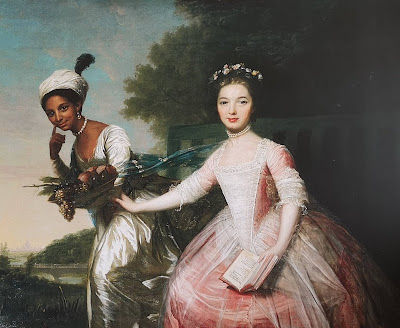 Dido Elizabeth Belle and Lady Elizabeth Murray from a replica   of the painting by David Martin (c1778) on display in Kenwood House.   The original hangs in Scone Palace, Scotland.