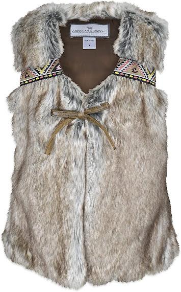 Cute Faux Fur Vest For Kids Girls