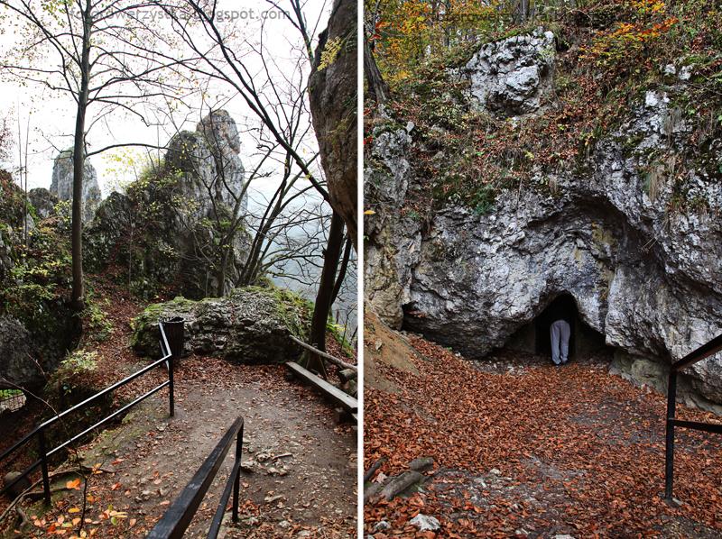 Ojców, Ojcowski Park Narodowy, małopolskie, Dolina Prądnika, Góra Koronna, Jaskinia Ciemna, Rękawica