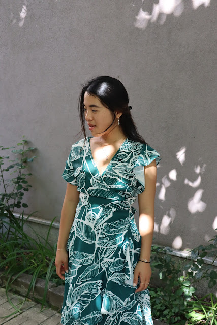 Leaf wrapped dress