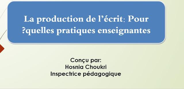 la production de l'ecrit pour quelles pratiques enseignantes