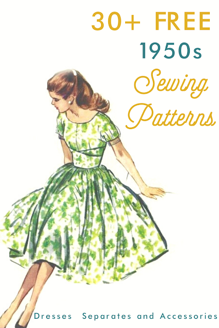 30+ free 1950s style sewing patterns