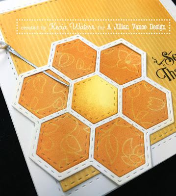 AJVD, Kecia Waters, hexagon, quilt