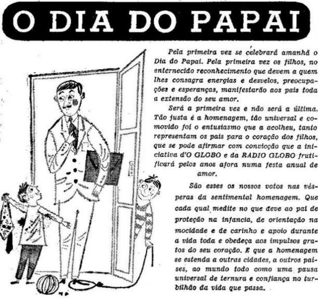 Anúncio do Dia do Papai