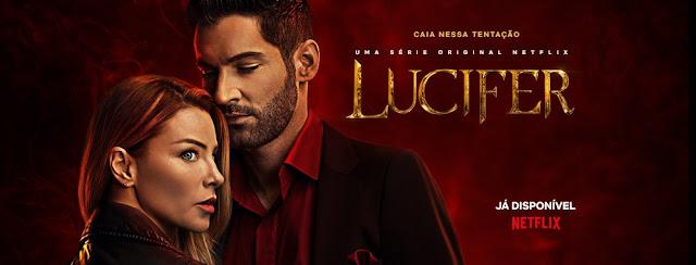 Foto divulgação Netflix com personagens da série Lúcifer