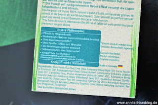 Review: ganz schön natürlich und nachhaltig -  Kneipp Lippenpflege - www.annitschkasblog.de