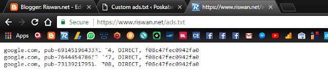 Cara Mudah Pasang Kode Ads.txt pada WordPress