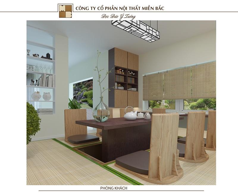 Mẫu thiết kế nội thất phong cách Nhật Bản tối giản mà hiện đại, thanh tao