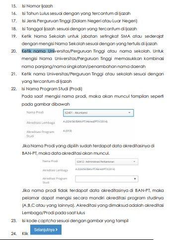 √ Petunjuk Pendaftaran Sistem Seleksi CPNS Nasional 2020 Terlengkap 60