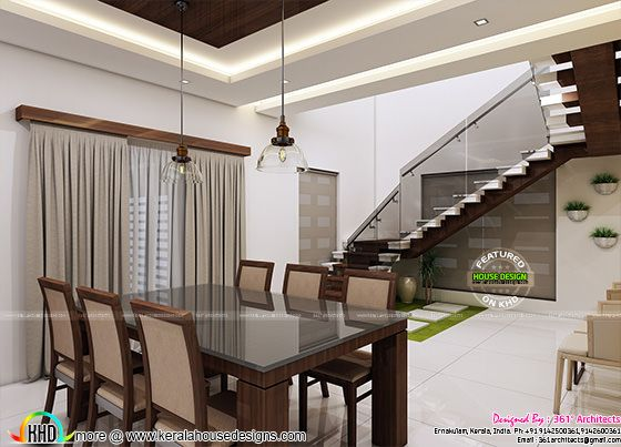 Dining and stair