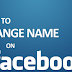 Name Change Facebook