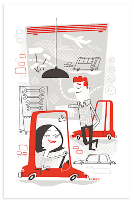 Clod illustrations dossier marque magazine Capital novembre 2016.
