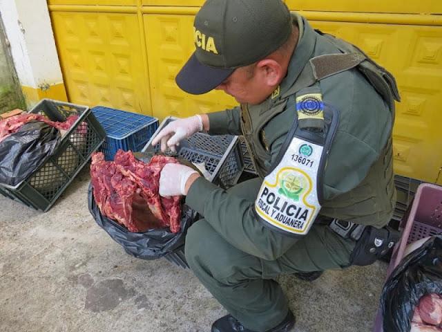 FRONTERA: Incautados 170 kilos de carne que pretendían ingresar a Arauca desde Apure-Venezuela.