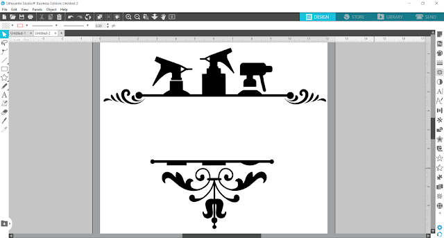 split monogram, monogram, custom designs, silhouette studio v4, monograms