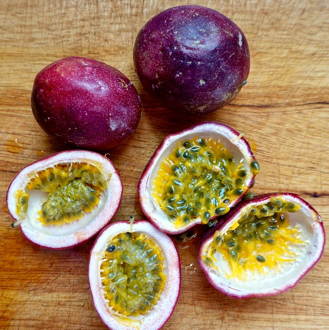 Passion fruit sliced