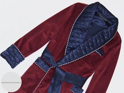 mens velvet dressing gown burgundy warm quilted silk smoking jacket robe gentleman vintage victorian