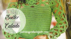 Cómo Tejer Suéter de Mangas Caladas