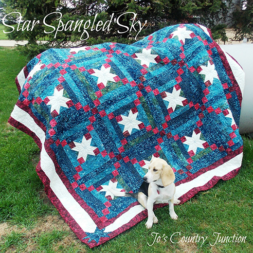 Star Spangled Sky Quilt Free Tutorial
