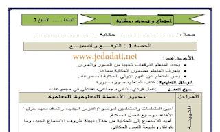 جذاذات نموذجية للغة العربية  المستوى الثالث ابتدائي جميع الحصص