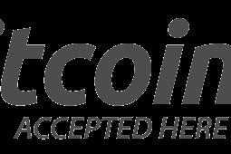 Unduh Logo Bitcoin & Bitcoin Accepted Here Vektor AI