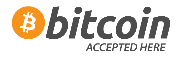 logo btc accepted here