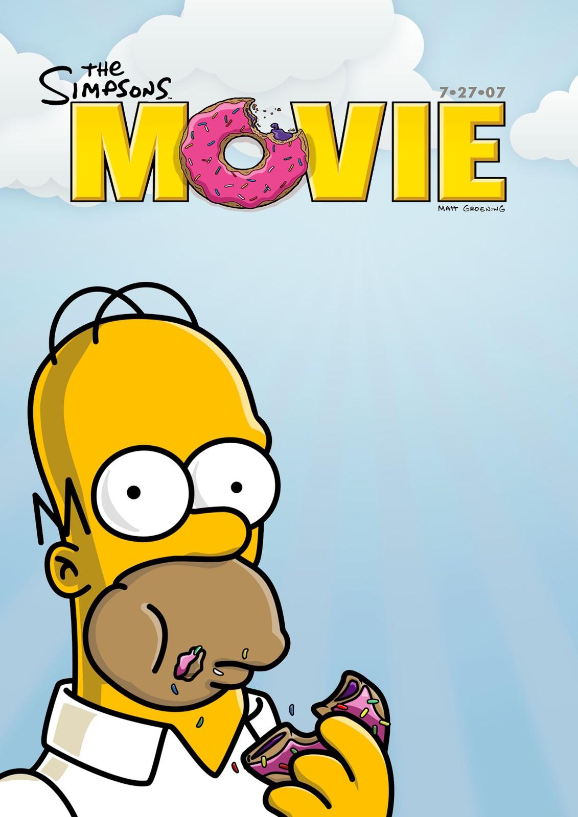 Bethany Thompson As Media Photoshop Skills Development 2 The Simpsons Movie Poster