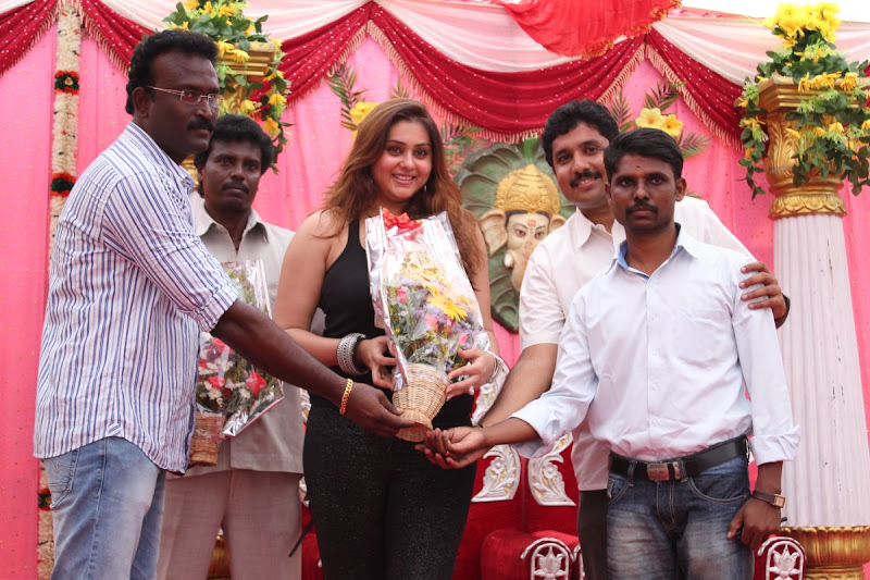 Namitha at JS Paradise Family Marriage Hall Launch Stills glamour images