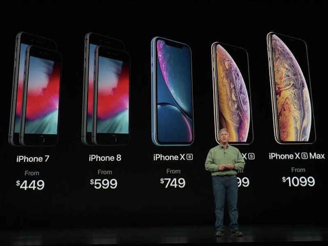 Harga iPhone Terbaru Paling Rendah 749 dan Termahal 1,099 Dollar AS