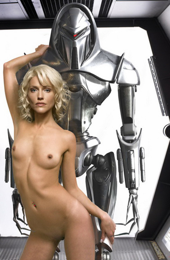 Tricia helfer naked breasts and butt battlestar galactica