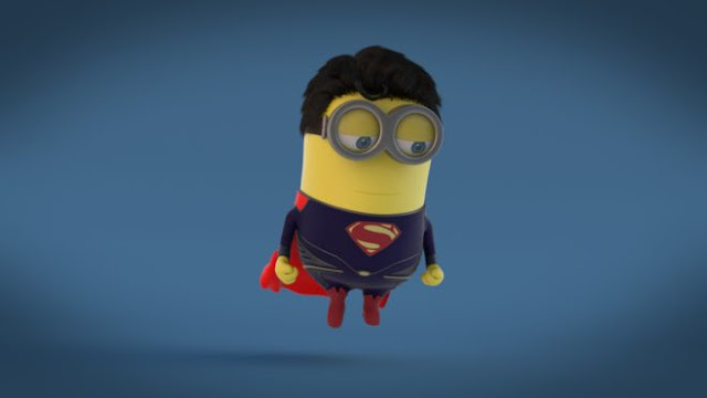 Cute minion Superman HD Wallpapers