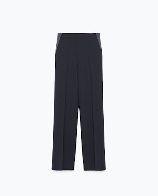 Zara Crepe Drapey Wide Trousers