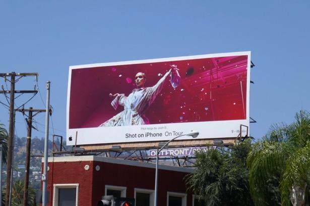 Shot on iPhone On Tour FWA twigs billboard