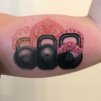 biceps tattoo weight