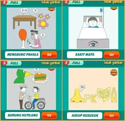 Jawaban tebak gambar level 34 nomor 13-16