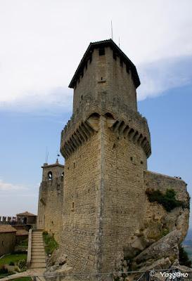 La caratteristica Torre Guaita, la più antica di San Marino
