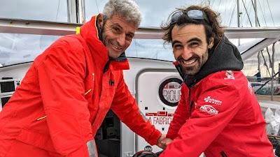 Alan Roura et Sébastien Audigane ensemble sur la Transat Jacques Vabre