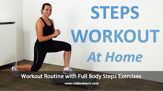 Stepper Workout Routine with Full Body Steps Exercises
