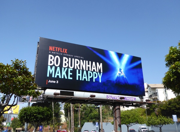 Bo Burnham Make Happy comedy special billboard