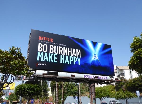Bo Burnham Make Happy comedy special billboard