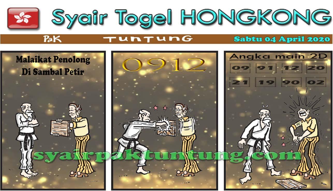 Prediksi HK Malam Ini Sabtu 04 April 2020 - Syair HK Pak Tuntung