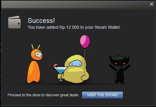 Mengisi Topup Steam Wallet
