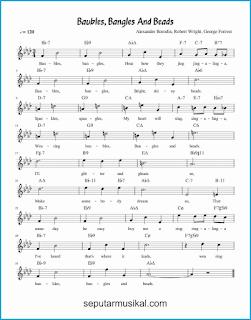 chord baubles bangles and beads lagu jazz standar