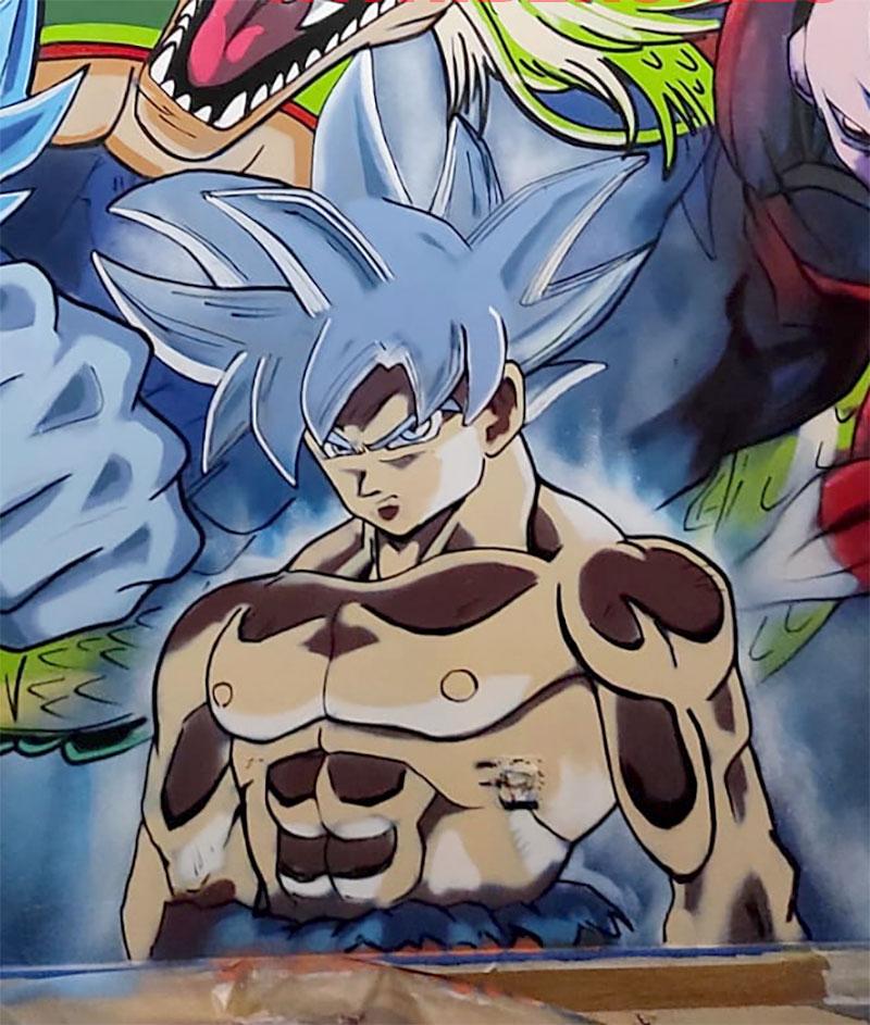 Graffiti Goku ultrainstinto dominado