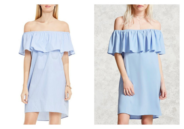 splurge vs steal bardot dress