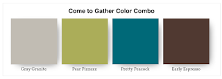 Stampin' Up! Color Combo: Gray Granite, Pear Pizzazz, Pretty Peacock, Early Espresso