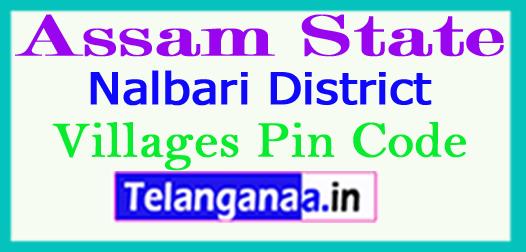 Nalbari District Pin Codes in Assam State