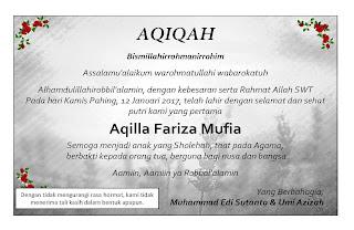 contoh form aqiqah untuk anak